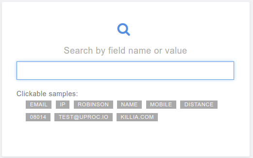 Search tool by word or name