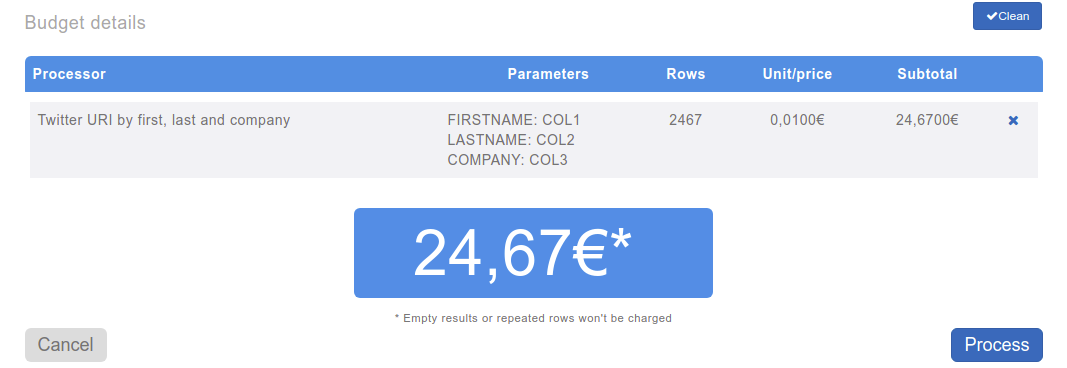 Add tool to estimate cost
