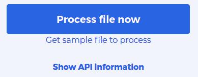 Show API information