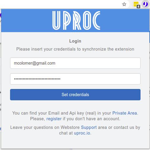 uProc for LinkedIn popup